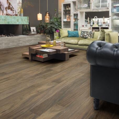 Engineered timber flooring pattern living room